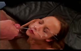 Huge facial for my girlfriend