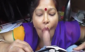 Indian whore sucking my cock